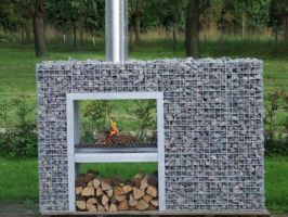 gabion deco barbecue